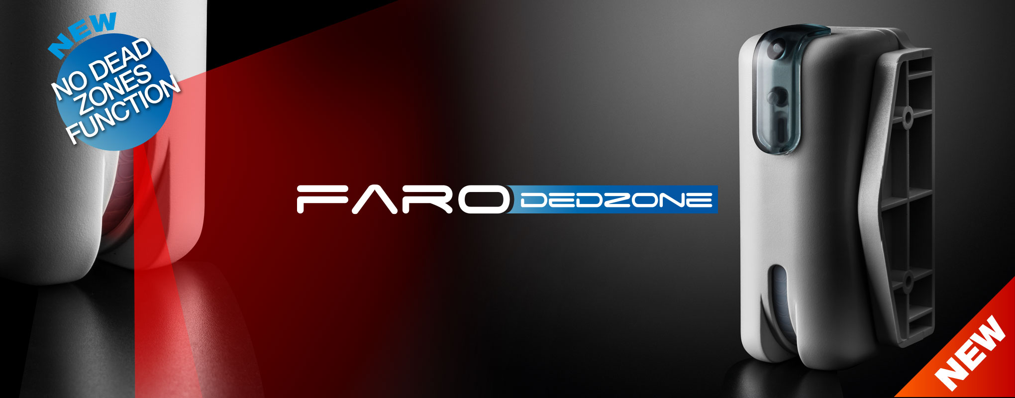 Faro DEDZONE | Curtain detector for outdoors, double technology