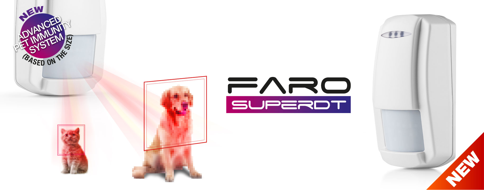 Faro SUPER DT | Dual technology motion detector with pet immunity